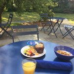 Breakfast on one of the porches