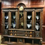 Antique piece behind reception desk