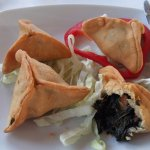 Spinach, tomato and garlic parcels