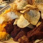 Banana nut bread and the corn beef hash  breakfast.