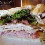 "Half of the ""Carlton Sandwich"""
