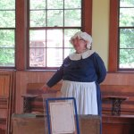 Hyde Log Cabin ~ learning all the details of the one-room schoolhouse by a very dedicated volunt