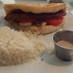 Falafel sandwich with Basmati rice
