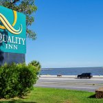 Our hotel is ACROSS from the Biloxi Beach and next to the MS Coast Coliseum & Convention Center