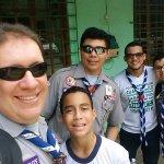 Parte del grupo scout La Salle
