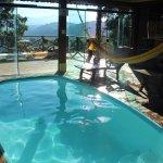 Chalé Piscina, com piscina interna aquecida, junho de 2017