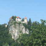 Bled Castle from a distance