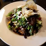 Delicious Treasure Salad. Apples, raisins, Fresh Gouda cheese and lovely dressing.