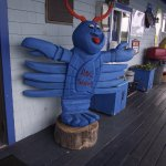 NH - RYE – RAY'S SEAFOOD – BLUE LOBSTER GREETER ON PORCH