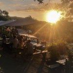 Coucher de soleil vue sur la terrasse