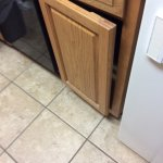 Cabinet door will not close at all.