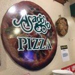Fake Pizza display