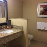 Nice clean bathroom (room 518)