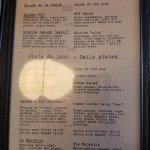 menu (partial)