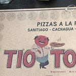 Individual de papel Rafa de la pizzeria.......