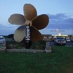 look for the huge propeller on your was south to the beaches