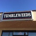 Tumbleweeds' main sign.