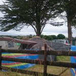 Camping pitch and field