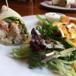 Rock Fish Wrap with a fresh Garden Salad