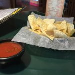 Complimentary chips and salsa...average flavor but plentiful