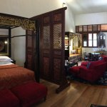 Stewart apartment main room, additional beds and bathroom Thru door to the right with a few stai