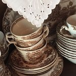 Antique China, Love brown transfer ware!