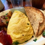 gus omelet (mushrooms, spinach, swiss cheese and bacon)