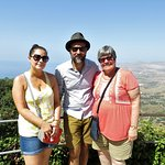Don Saro with Laura and Judy at Erice