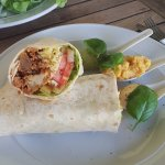 Chicken wrap - pricey at almost NZ$25 but tasty and filling