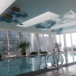 Swimming pool of shangri-la Pudong hotel