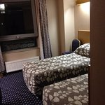 Twin room. Pleasant and comfortable with swiveling window.
