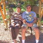 My Brother & SIL on the Swing at Tina's-Honoring their 40th Anniversary