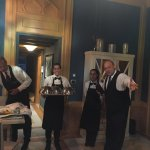 This is the amazing waitstaff from the restaurant next door serving us! They were the best!