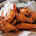 Wing with buffalo sauce.