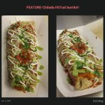 Fat Cat Chilada Burrito $ 8  (open face burrito) Your choice of meat Chicken, Beef, pork Jalapen