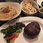 Steak, white asparagus and risotto