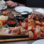 Skewers of mixed meats
