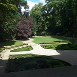 The garden of the home reaches to the lovely Parc Monceau