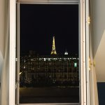 View of Eiffel Tower at Night from 2nd Floor of Room