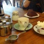 Cream tea & chocolate cake