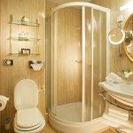 A bathroom in a single room