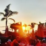 Sunset dining @ pool