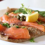 Smoked Salmon and Caper Crepe