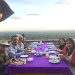 Breakfast on the deck at Ruaha Hilltop Lodge