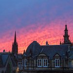 Roofs of Edinburgh from the roof terrace.