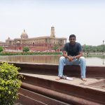 Outside The Rashtrapati Bhavan