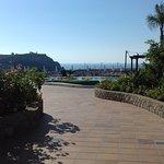 Acropolis views as you walk to the pool area