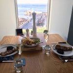 Dinner overlooking the pier