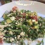 Quinoa salad with avocado