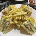 Best club sandwich in Mawlamyine! With fries!